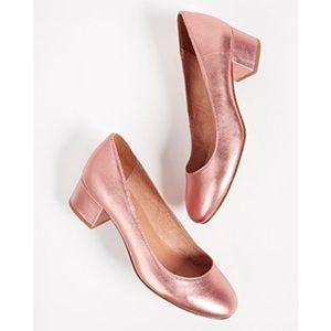 MADEWELL the ella pump in metallic blush